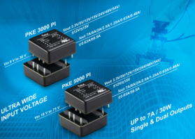 New PKE3000 and PKE5000 Series Features 9 to 36V and 18 to 75V Inputs Respectively