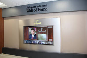 Empire Digital Signs (Rochester, NY) has Designed Systems to Address the Issue of High Schools Running Out of Space for Their Wall of Fame Plaques, While Giving Their Hallways a Digital Upgrade