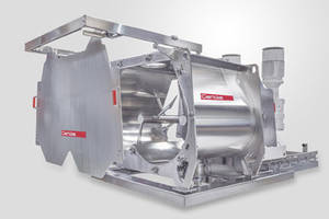Gericke Presents Hygienic Multiflux GMS Mixers in Horizontal Double Rotor Design