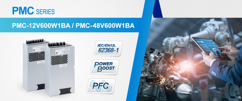 New PMC Series Panel Mount Power Supplies Feature Built-In Active PFC