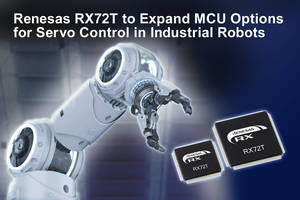 Renesas Introduces 32-Bit RX72T Microcontroller with Register Bank Save Function