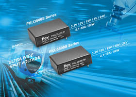 New PKU3500S and PKU5500S Features Input Voltage Range of 9 to 36V and 18 to 75V Respectively