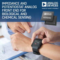 New AD5940 Features Integrated Hardware Accelerators