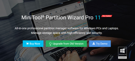 MiniTool Partition Wizard 11.4 that is compatible with French language