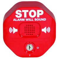 Redesigned Exit Stopper Door Alarm Now Includes a Flashing LED