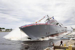 Littoral Combat Ship 21 (Minneapolis-Saint Paul) Christened and Launched