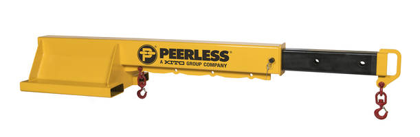New TB Telescoping Fork Truck Boom by Peerless Industrial Group is Designed for Lifting and Carrying Loads