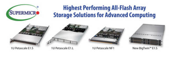 New Server and Storage Systems from Supermicro Offering Extensive of Line NVMe, Hybrid NVMe, and SATA Systems