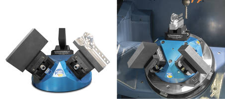 New 45-Degree Pyramid Workholding Platform is Constructed of 7075 Anodized Aluminum and 12inch Diameter Base