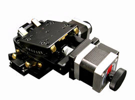 New Pitch-and-Roll Stages are Available with Servo Motors and Stepper Motors