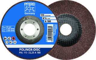 New POLINOX Fiber-backing Disc Uses Aluminum Oxide Abrasives