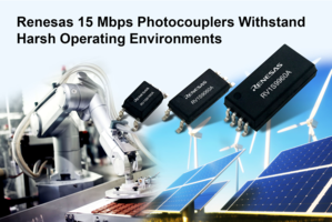New RV1S9x60A Photocouplers Feature High Common Mode Rejection up to 50 kV/microsecond