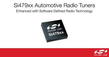 New Si479xx Automotive Radio Tuners Delivers High Integration and Reception Performance