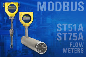 New Thermal Mass Air/Gas Flow Meters are Ideal for Automated Process and Plant Applications
