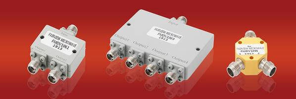 New High Frequency Power Dividers from Fairview Microwave Provide Low Insertion and Return Loss