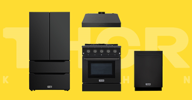 New Black Stainless Steel Kitchen Suite from Thor Kitchen Comes with Cast-Iron Cooking Grates and BTU Burners