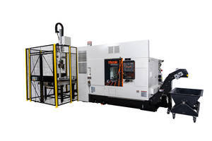 Mazak Adds Automation to Multi-Tasking with The QUICK TURN 250MSY + GR100