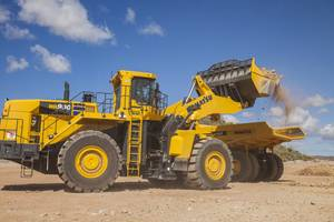 New Wheel Loader Built to Load 70 - 150 ton Haul Trucks