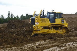 New D155AX-8 LGP Dozer Equipped with Large Capacity Semi-u blade or Angle Blade