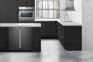 New Black Stainless Steel Under Counter from Summit Appliance is ADA Compliant