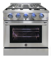 New Brama 30-Inch Freestanding Gas Range Available with Stainless-steel Drip Pan