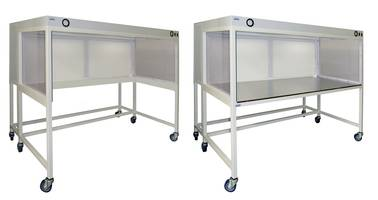 New Horizontal Laminar Flow Hoods are Available in 3 to 8 ft. Length