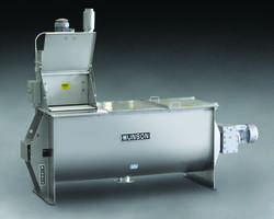 New HD-3.5-9-SS Model Ribbon Blender from Munson Features Integral Bag Dump Station