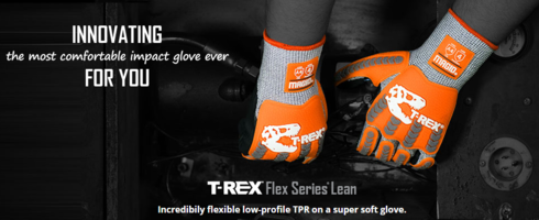 New REX Flex Series Lean TRX443 Gloves Deflects and Absorbs Impacts
