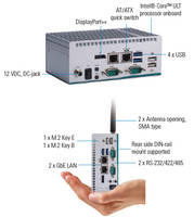New eBOX100-51R-FL Fanless Embedded System is Available with Wall, DIN-Rail and VESA Mount Options