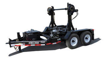 Valuable Tool for Any Fleet, Felling Trailers' Self-Loading Turret Reel Trailer