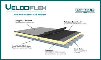 New Velociflex High Wind-Resistant Roofing System is Ideal for Steel and Concrete Decks