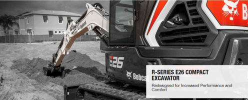 New E26 Excavator with 6,489 lb. Operating Weight