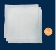 New Cotton Cleanroom Wipe Swatch for Variety of Applications Including ISO 6-8 Cleanrooms