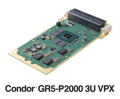 New GR5-P2000 3U VPX Graphics and GPGPU Card Features H.265 Encode and Decode Capability