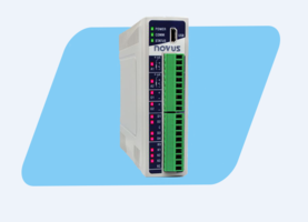 New Novus DigiRail Connect Ethernet I/O Module Features 3 Digital or 2 Relay Outputs