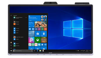 New Windows Collaboration Display Features 10-Point P-CAP Capacitive Touch