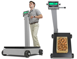 Rolling Digital Column Scales Now Available with Rechargeable Battery Power