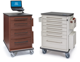 New Vintage Encore Medication Carts with Expanded Bumpers to Protect Facility Walls