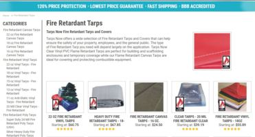 New Flame Retardant Tarp Fabrics Utilized to Create Translucent Protective Screens