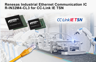 New R-IN32M4-CL3 IC for Industrial Ethernet Communication Supports Existing CC-Link IE Field Network Protocol