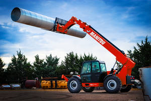 New MTA 12055 Telehandler from Manitou Comes with Single Joystick Control