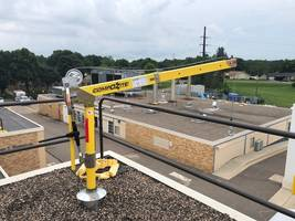 OZ Lifting Davit Crane Installed on Hospital Rooftop