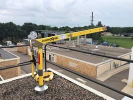 OZ Lifting Davit Crane Installed on Hospital Rooftop