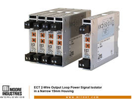 New ECT-DIN 2-Wire Isolator/Converter Operates at Temperature Range of -40 to 85 Degree C