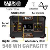 New 546 Wh Portable Power Station with High-energy Density Lithium-ion Battery