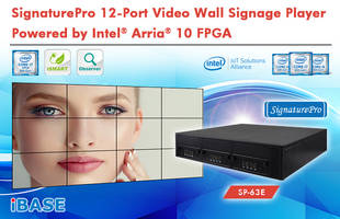 SignaturePro 12-Port Video Wall Signage Player Offers Breakthrough Capability Powered by Intel