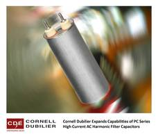 New AC Harmonic Filter Capacitors with Service Life of 60,000 Hours When Operated at Full Rated Voltage