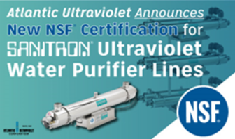 SANITRON® UV Water Purifiers Have Been Granted NSF Certification
