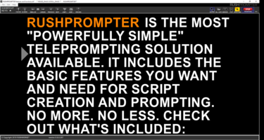 New RUSHPROMPTER Teleprompting Software Features Script Creation and Prompting