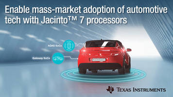 New Jacinto 7 Processor Platform Includes On-Chip Accelerators